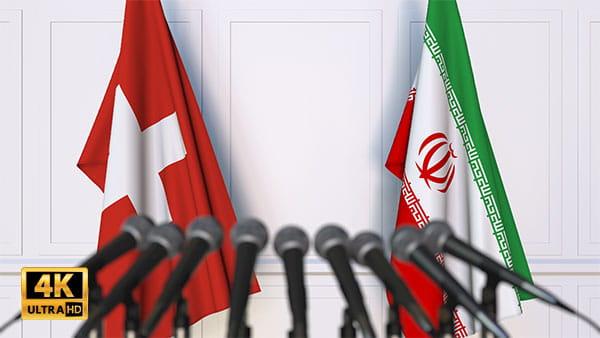 فوتیج ویدیویی مذاکره ایران و سوئیس