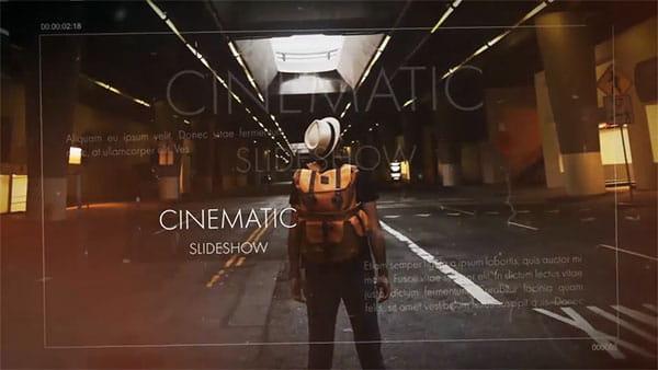 پروژه افترافکت اسلایدشو سینمایی