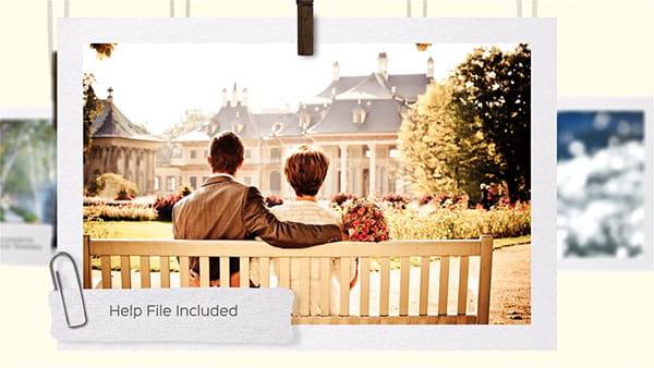 پروژه افترافکت نمایش اسلایدشوآلبوم عکس عروس