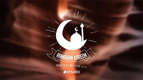 پروژه افترافکت نمایش متن گرافیکی ماه رمضان