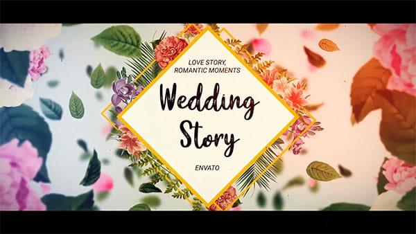 پروژه افترافکت اسلایدشوگیاهی عروس