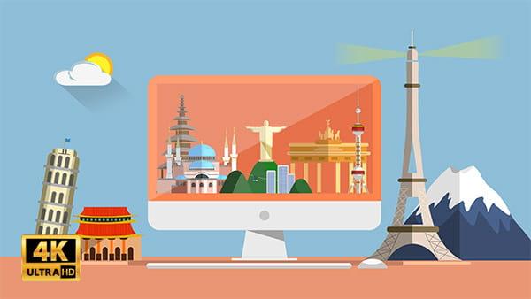 ویدیو موشن گرافیک اماکن گردشگری جهان