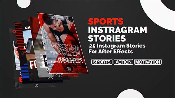 پروژه افترافکت مجموعه استوری اینستاگرام ورزشی