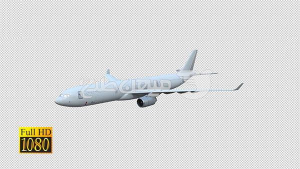 فوتیج ویدیویی رد شدن هواپیما