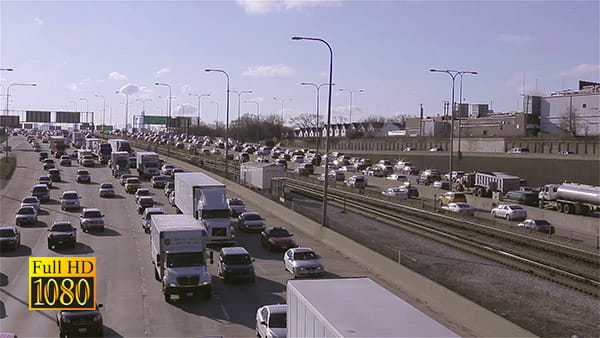 فوتیج ویدیویی ترافیک شهری