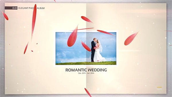 پروژه افترافکت اسلایدشو آلبوم عروس