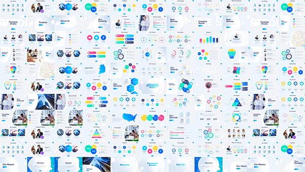 پروژه افترافکت اسلاید تجاری ، آمار و نمودار