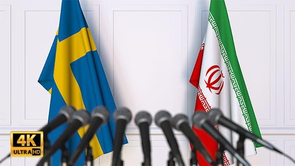فوتیج ویدیویی مذاکره ایران و سوئد