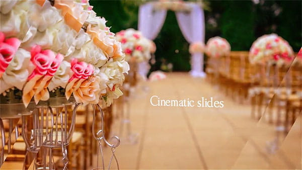 پروژه افترافکت نمایش اسلایدشو زیبا عروسی