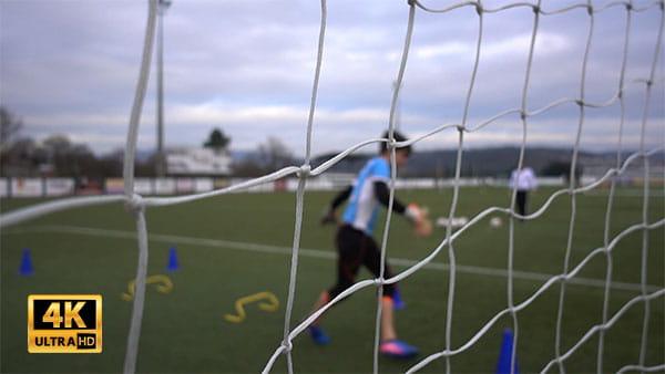 فوتیج ویدیویی تمرین دروازه بانی