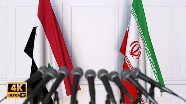 فوتیج ویدیویی مذاکره ایران و سوریه