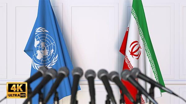 فوتیج ویدیویی مذاکره ایران وسازمان ملل