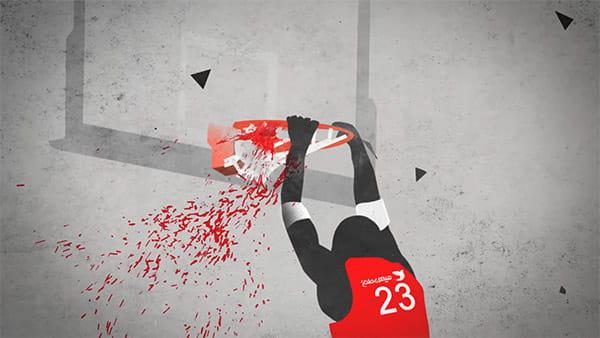 پروژه افترافکت نمایش نمایش تیزر ورزشی مدرسه بسکتبال