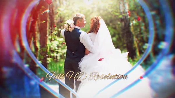 پروژه افترافکت نمایش اسلایدشو قلبی عروس