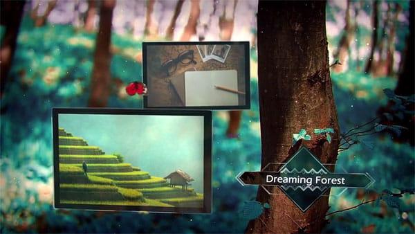 پروژه افترافکت اسلایدشوجنگل رویایی